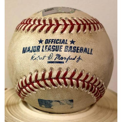 Photo of Game-Used Baseball: Miami Marlins at St. Louis Cardinals (8/15/15) - Ichiro Suzuki #4192 Professional Hit Game