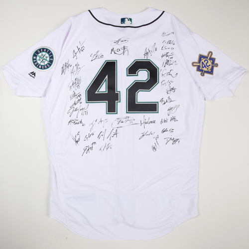 Photo of 2019 Jackie Robinson Day Jersey - Seattle Mariners Team Autographed Jersey