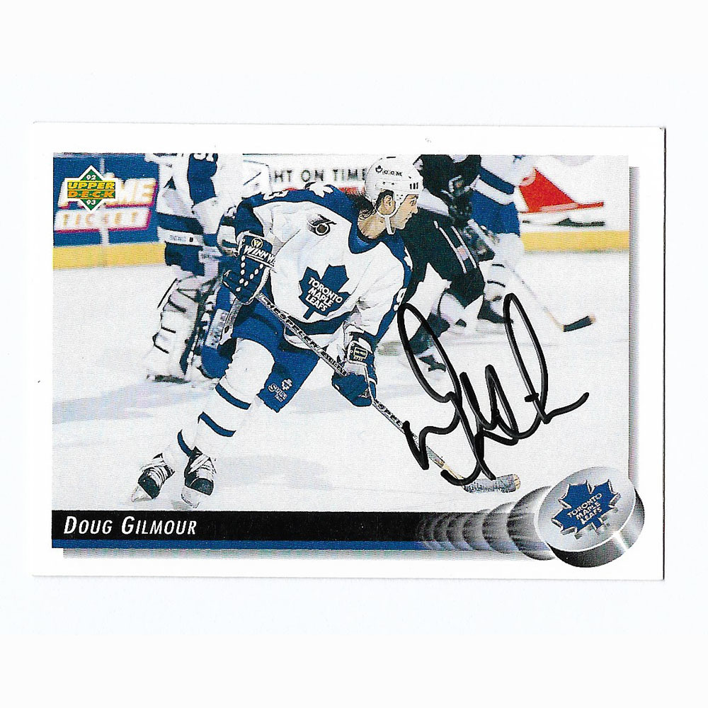 Doug Gilmour Autographed 1992-93 Upper Deck Hockey Card