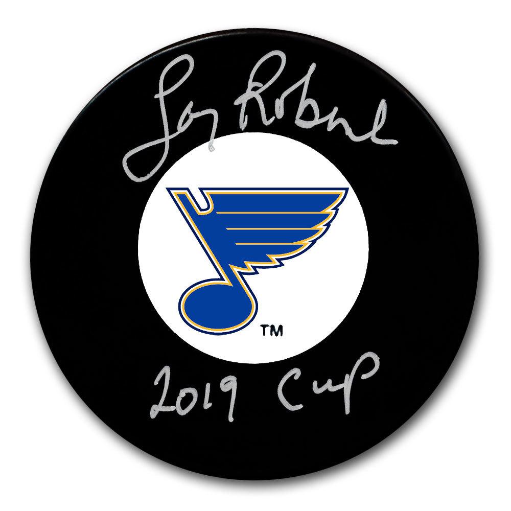 Larry Robinson St. Louis Blues 2019 Cup Autographed Puck