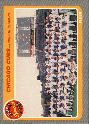 Photo of 1985 Fleer #642 Cubs Division Champs