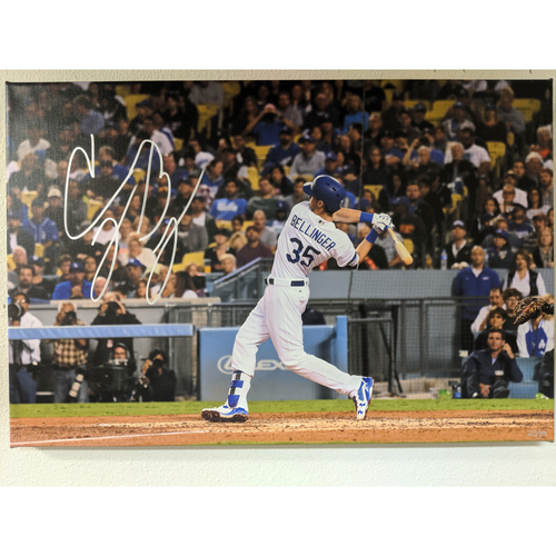 Photo of Cody Bellinger 39th Homerun Autographed Canvas
