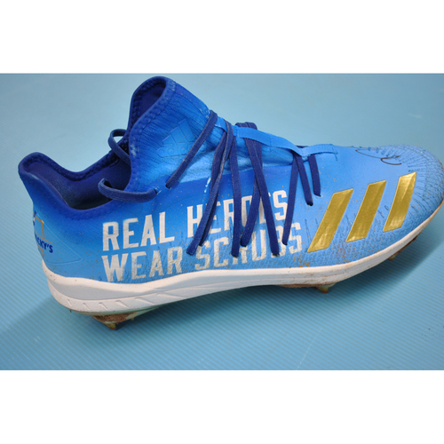 More than Baseball: Game-Used and Autographed Cleats -Detroit Tigers at Kansas City Royals - 9/25/20 - Nicky Lopez