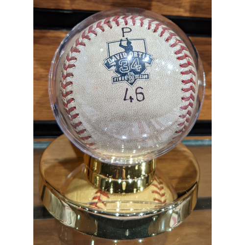 Photo of David Ortiz Final Season October 2, 2016 Game Ready Ball #46
