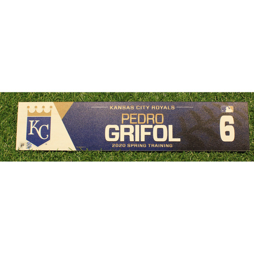 Photo of Game-Used 2020 Spring Training Locker Tag: Pedro Grifol #6