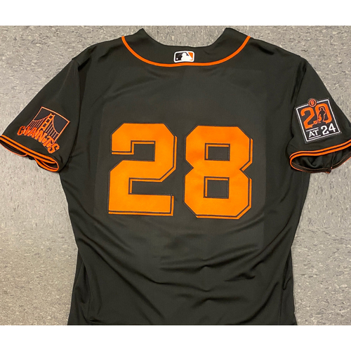 Photo of 2020 Team Issued Black Home Alt Jersey - #28 Buster Posey - Size 46