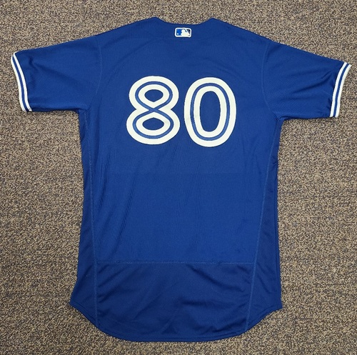 Photo of Authenticated Team Issued 2020 Spring Training Jersey: #80 Logan Warmoth. Size 44