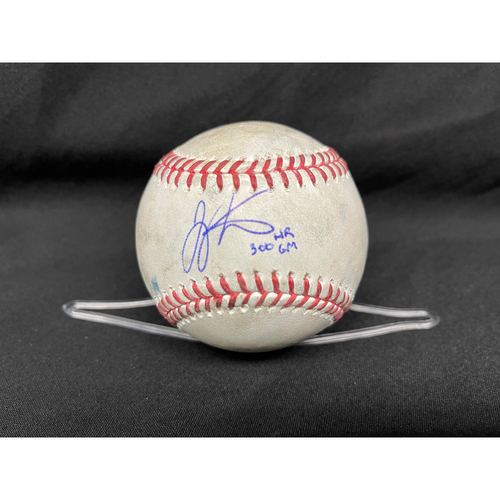Photo of Joey Votto *Game-Used, Autographed & Inscribed* Baseball from 300th Career HR Game - Wade Miley to Jake Marisnick (Line Out); to David Bote (Fly Out) -- 04/30/2021 - CHC vs. CIN - Top 4