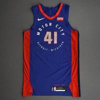 Saddiq Bey - Detroit Pistons - Game-Worn City Edition Jersey - 2020-21 NBA Season