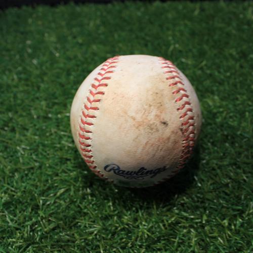 Photo of Game-Used Baseball: LaMonte Wade Jr. 13th Career Hit (MIN@KC 8/22/20)