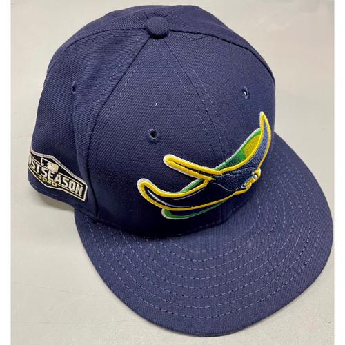 Photo of Team Issued Devil Rays Cap: Rodney Linares #27 - 2020 Postseason