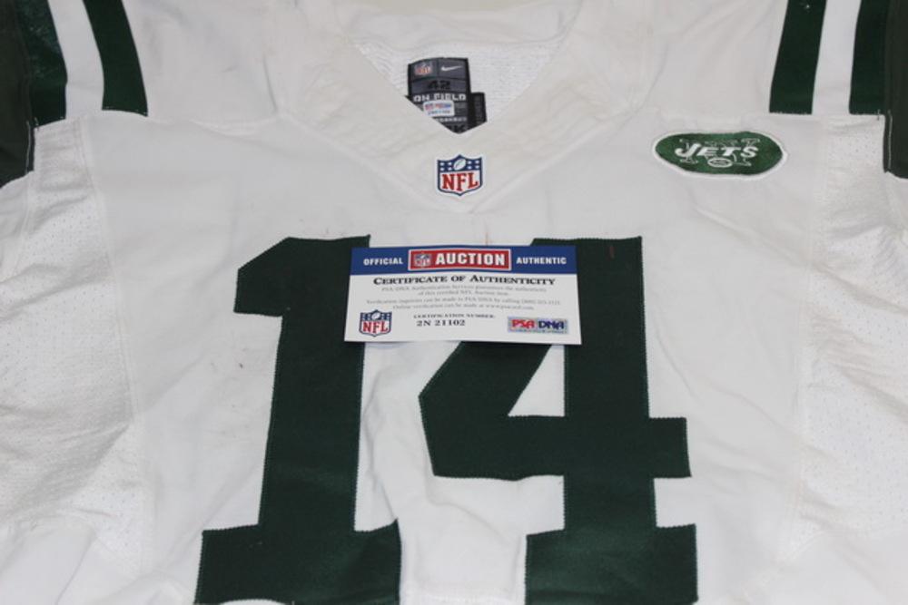 the latest dbe2f 87599 NFL Auction | BCA - JETS RYAN FITZPATRICK GAME WORN JETS ...