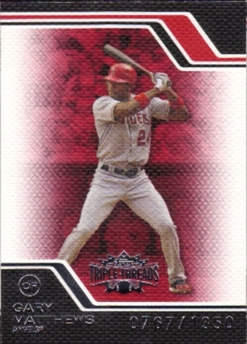 Photo of 2008 Topps Triple Threads #116 Gary Matthews