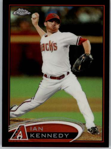 Photo of 2012 Topps Chrome Black Refractors #11 Ian Kennedy