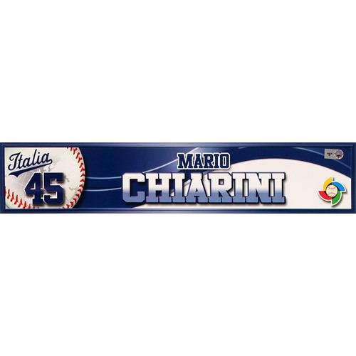 Photo of 2013 World Baseball Classic: Mario Chiarini (ITA) Game-Used Locker Name Plate
