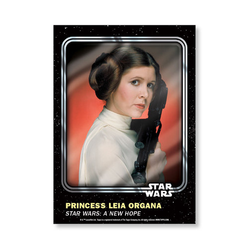 Princess Leia Organa 2016 Star Wars Card Trader Base Poster - # to 99