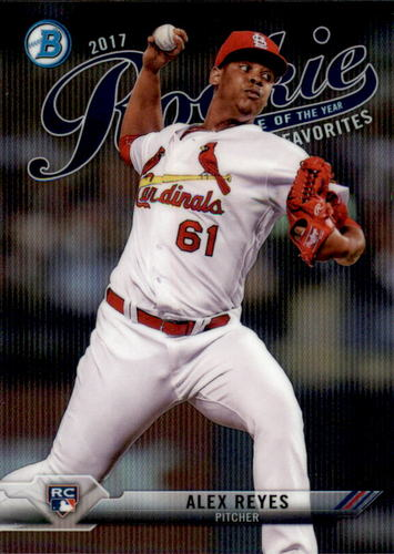 Photo of 2017 Bowman Chrome Rookie of the Year Favorites Refractors #ROYF14 Alex Reyes