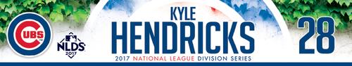 Kyle Hendricks Game-Used Locker Nameplate -- NLDS Game 3 -- Nationals vs. Cubs -- 10/9/17