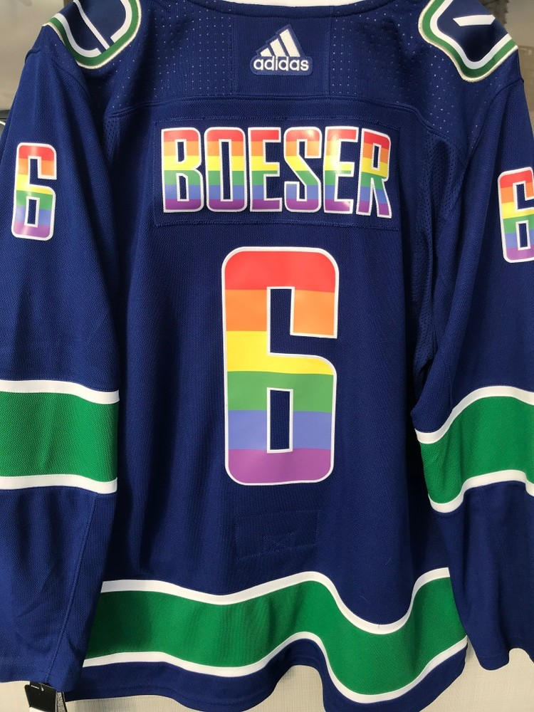 cheap for discount 8c0f5 10d92 Brock Boeser Warm-Up Worn and Autographed Vancouver Canucks ...