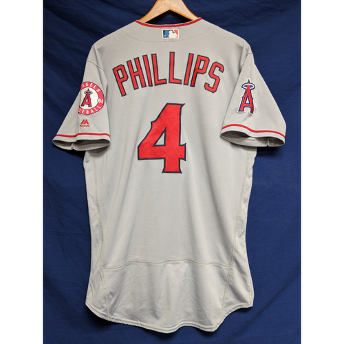 Photo of Brandon Phillips Game-Used Road Jersey