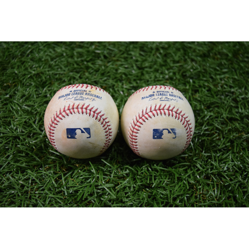 Photo of Game Used Baseball Package #4: September 15, 2017 - Jackie Bradley Jr. Single and Corey Dickerson Single