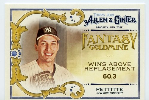 Photo of 2018 Topps Allen and Ginter Fantasy Goldmine #FG30 Andy Pettitte