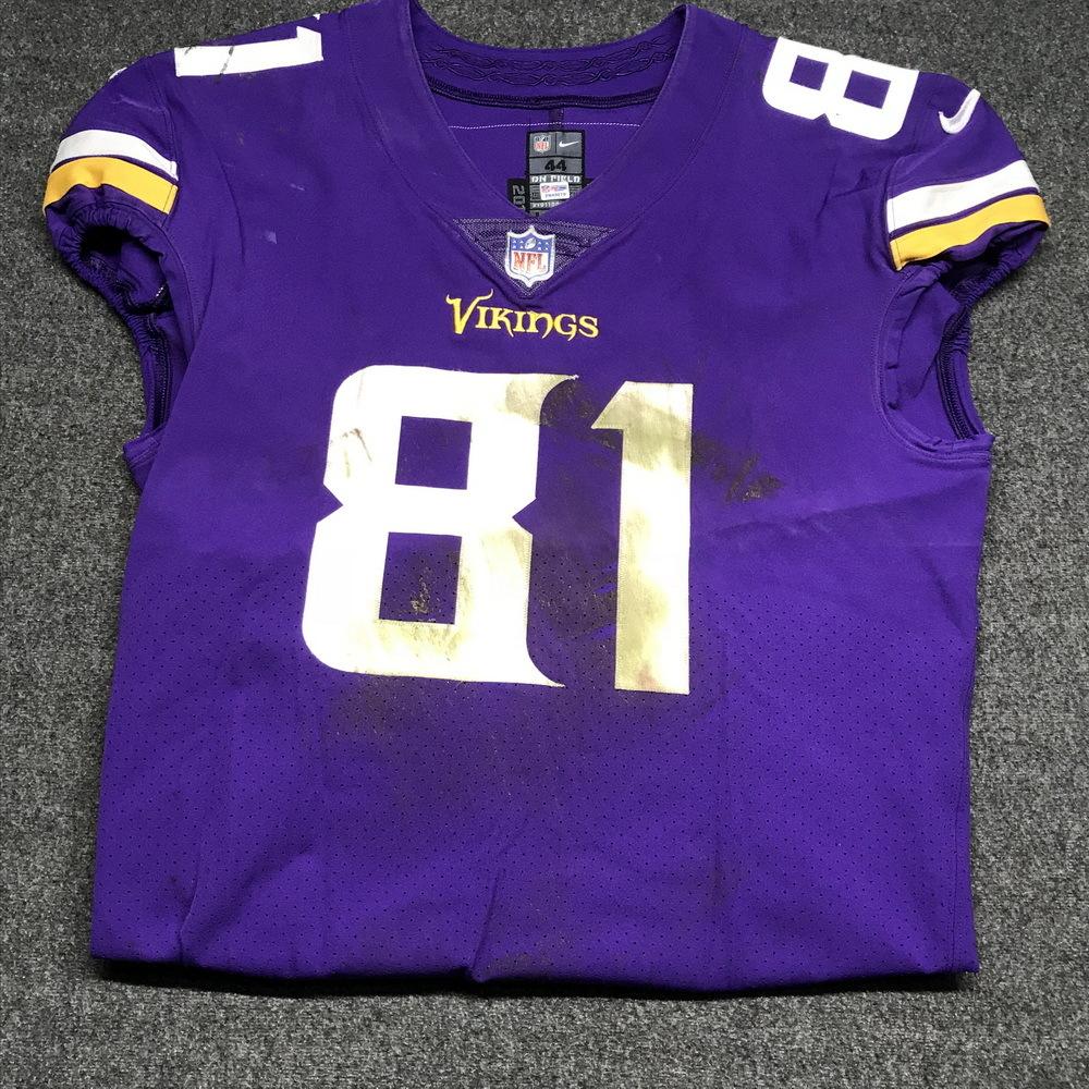 NFL Auction   London Games - Vikings Blake Bell game worn Vikings ...