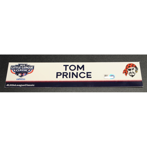Photo of 2019 Little League Classic - Game Used Locker Tag - Tom Prince,  Chicago Cubs at Pittsburgh Pirates - 8/18/2019