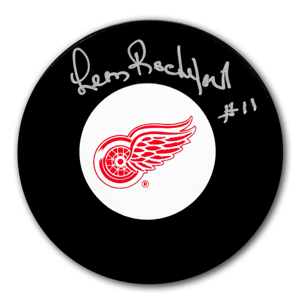 Leon Rochefort Detroit Red Wings Autographed Puck