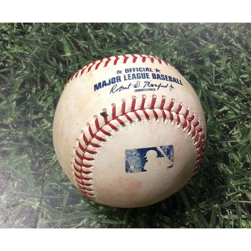 Photo of Game-Used Baseball CHC@MIL 07/26/19 - Pedro Strop - Ben Gamel: Go-Ahead, 2-Run Single