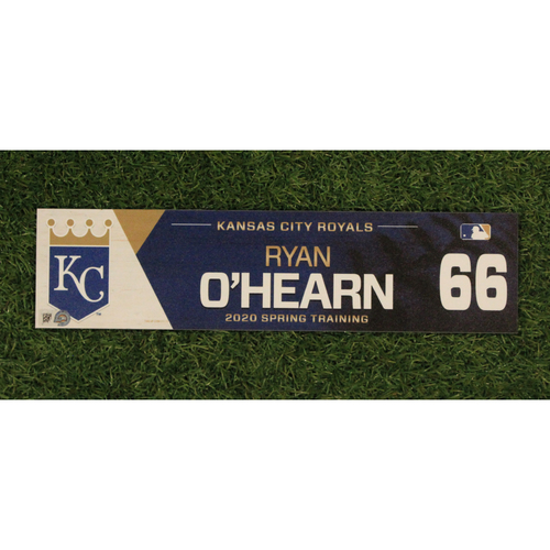 Photo of Game-Used Spring Training Locker Tag: Ryan O'Hearn #66