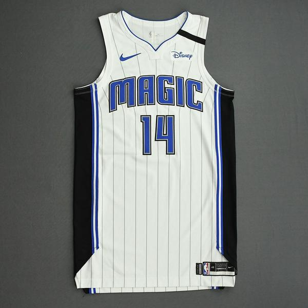 Image of D.J. Augustin - Orlando Magic - Game-Worn Association Edition Jersey - 2019-20 NBA Season Restart with Social Justice Message