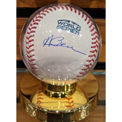 Photo of Andrew Benintendi Autographed 2018 World Series Baseball