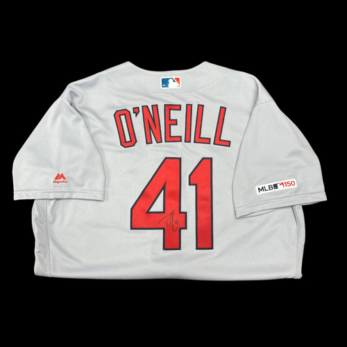 Photo of Tyler O'Neill Autographed Team Issued  Road Jersey (Size 46)
