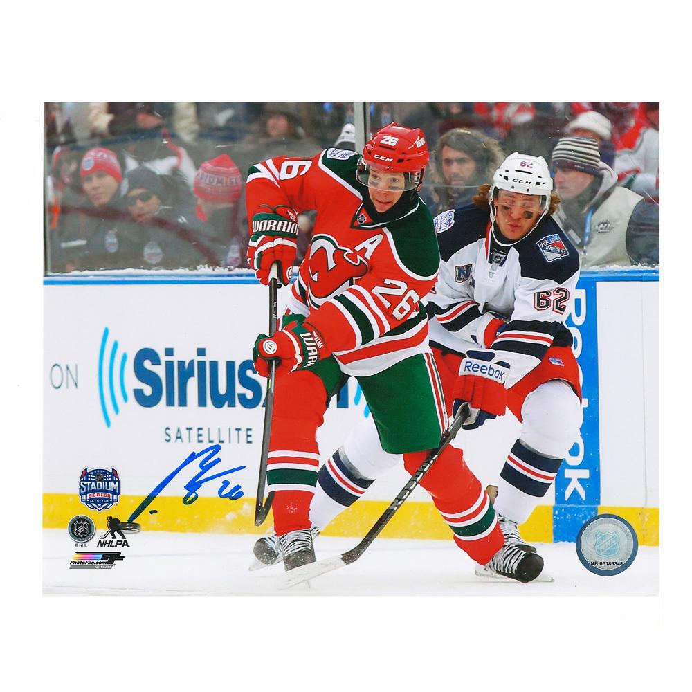 PATRIK ELIAS Signed 2014 NHL Stadium Series New Jersey Devils 8 X 10 Photo - 70250