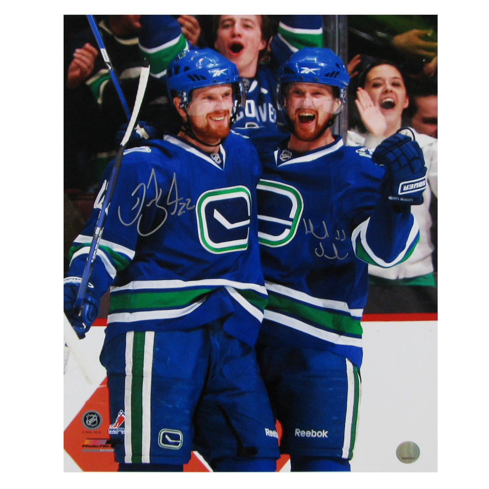 DANIEL & HENRIK SEDIN Dual-Signed Vancouver Canucks 16 X 20 Photo - 79027