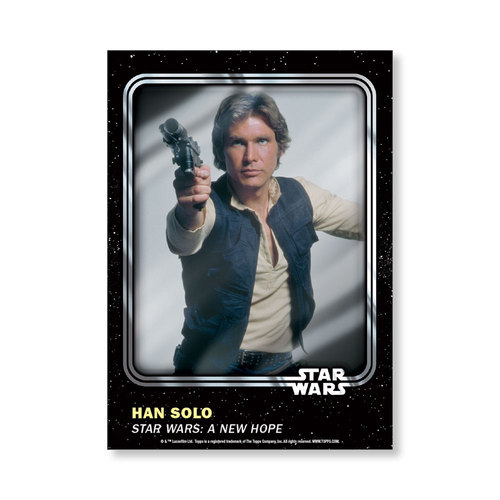 Han Solo 2016 Star Wars Card Trader Base Poster - # to 99