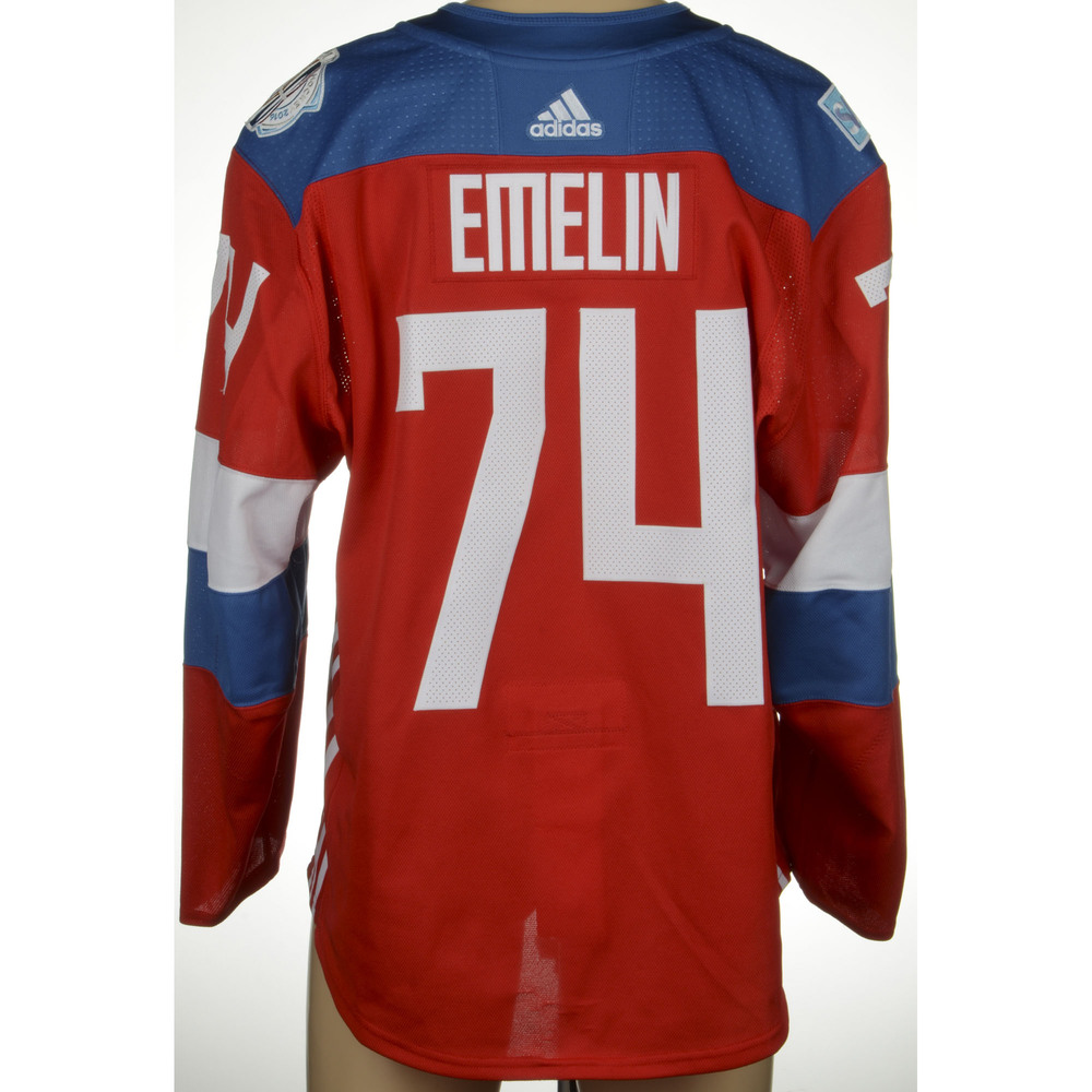 Alexei Emelin Montreal Canadiens Game-Worn 2016 World Cup of Hockey Team Russia Jersey, Worn Against Team Finalnd On September 22nd