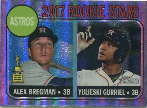 Photo of 2017 Topps Heritage Chrome Purple Refractors  Alex Bregman/Yulieski Gurriel