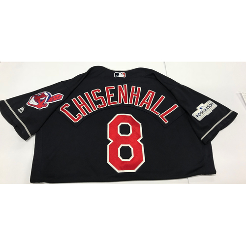 Photo of Lonnie Chisenhall Team-Issued 2017 Postseason Alternate Jersey