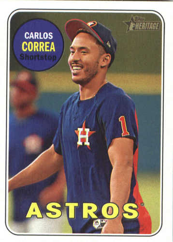 Photo of 2018 Topps Heritage #381 Carlos Correa