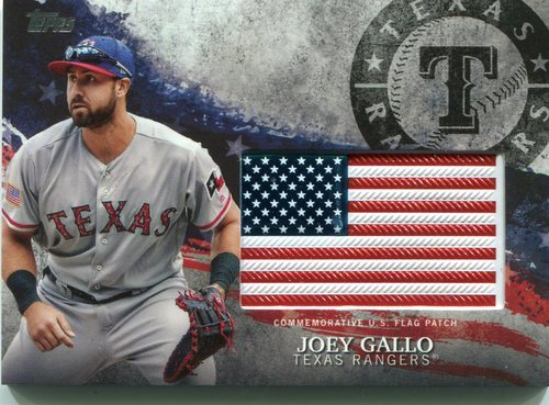 Photo of 2018 Topps Independence Day U.S. Flag Relics #IDMLJG Joey Gallo