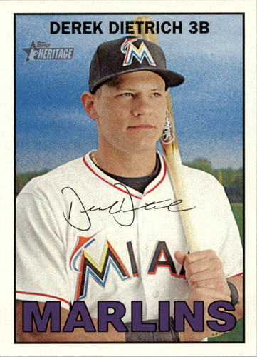 Photo of 2016 Topps Heritage #124 Derek Dietrich