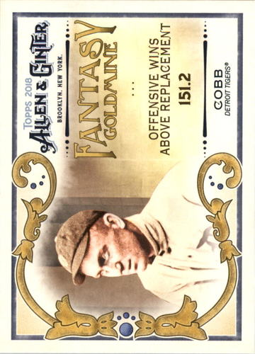 Photo of 2018 Topps Allen and Ginter Fantasy Goldmine #FG32 Ty Cobb