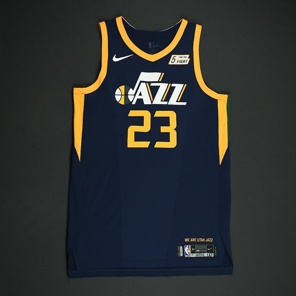 Royce O'Neal - Utah Jazz - Game-Worn Rookie Season Jersey (Not Debut) - 2017-18 Season