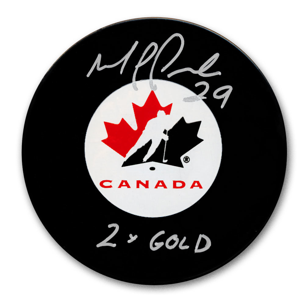 Marie-Philip Poulin Team Canada 2x GOLD Autographed Puck