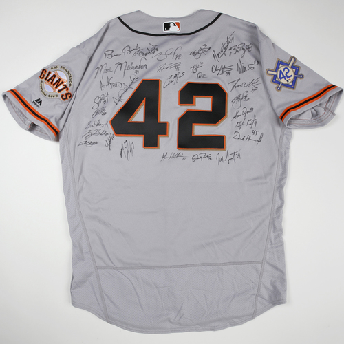 Photo of 2019 Jackie Robinson Day Jersey - San Francisco Giants Team Autographed Jersey