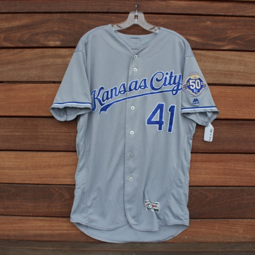 Photo of Game-Used Jersey: Danny Duffy (KC @ MIN - 9/8/2018 - Size 46)