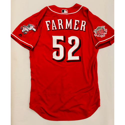 Photo of 2019 Mexico Series Game Used Jersey - Kyle Farmer Size 44 (Cincinnati Reds)