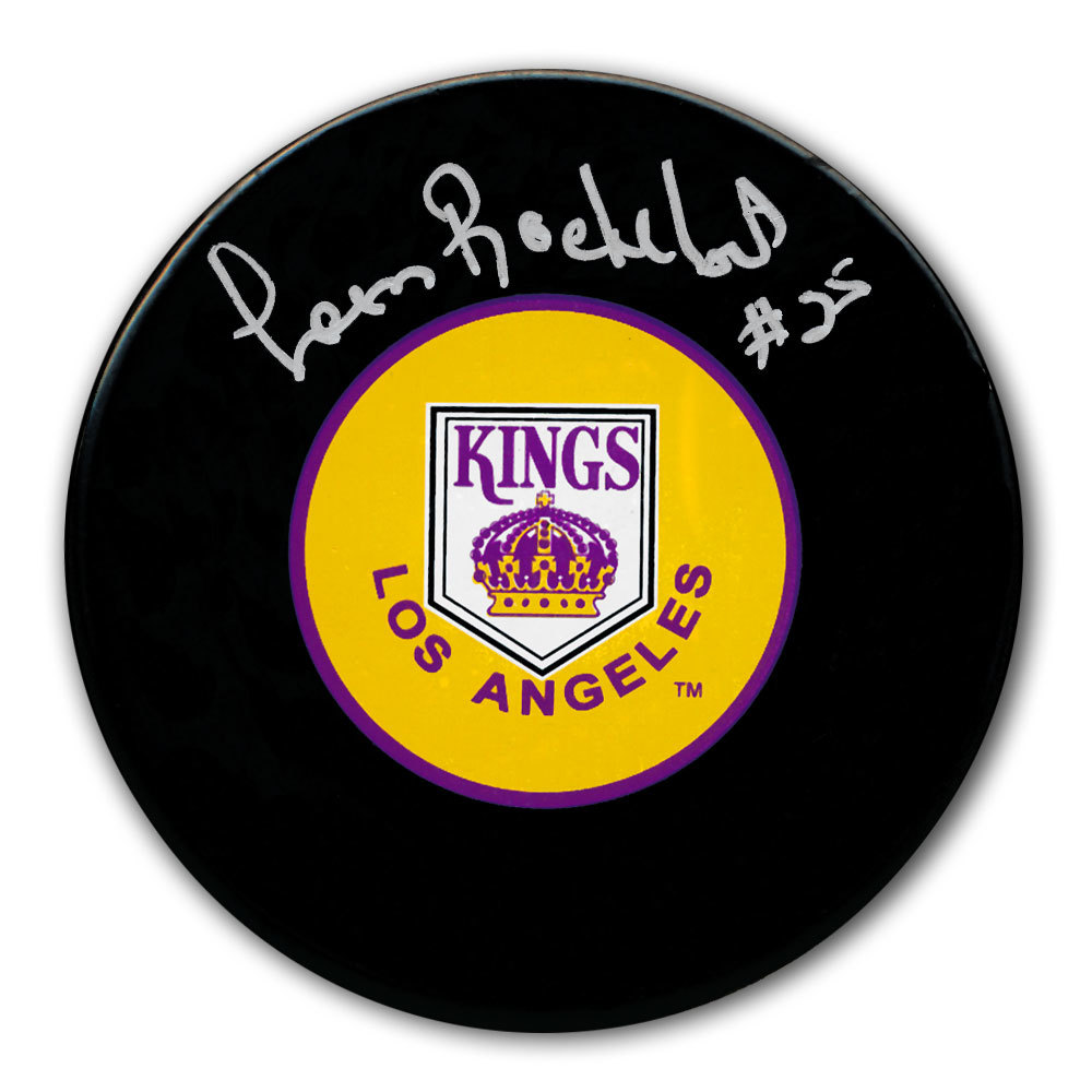 Leon Rochefort Los Angeles Kings Autographed Puck